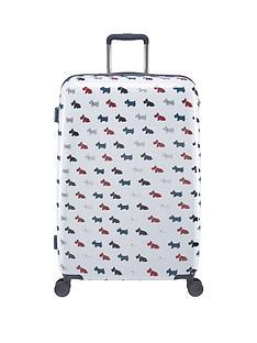 radley-radley-multi-dog-large-4-wheel-suitcase-white
