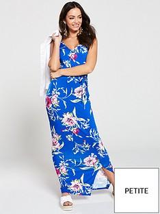 v-by-very-petite-wrap-split-jersey-maxi-dress-blue-floral