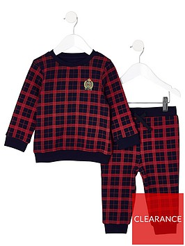 river-island-mini-mini-boys-red-check-sweatshirt-outfit