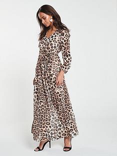07c81efffe V by Very Maxi Dress - Animal Print