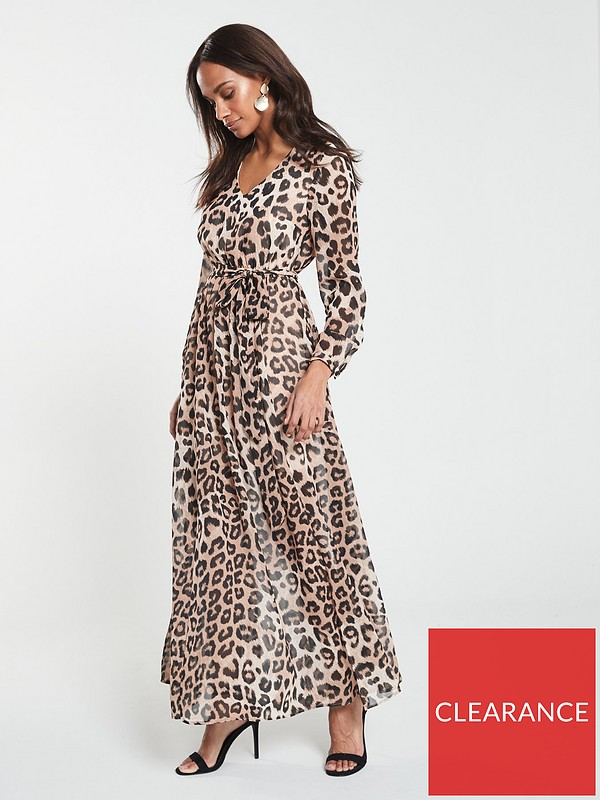 most popular competitive price sale online V by Very Maxi Dress - Animal Print | very.co.uk