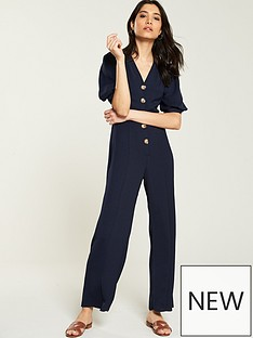 9cca7b9afc53 V by Very Button Through Jumpsuit
