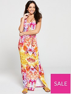 v-by-very-petite-wrap-split-jersey-maxi-dress-multi