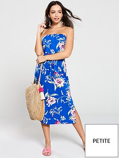 v-by-very-petite-tube-dress-blue-floral
