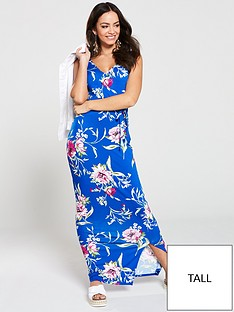 v-by-very-tall-wrap-split-jersey-maxi-dress-blue-floral