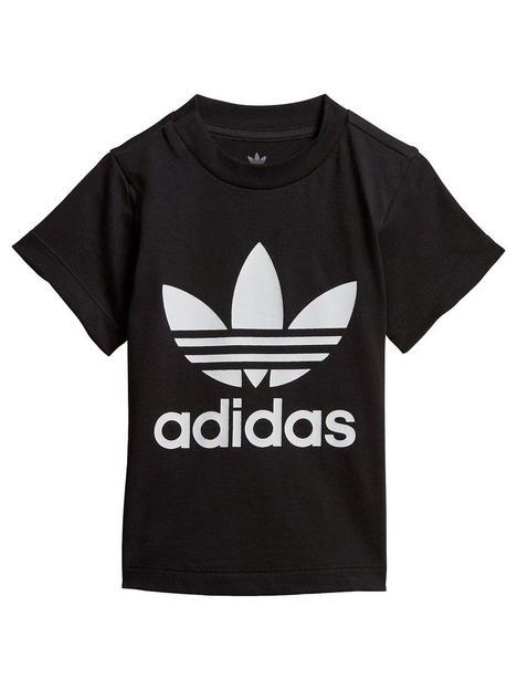 adidas-originals-infant-trefoil-t-shirt-blackwhite