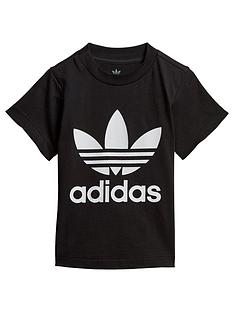 adidas-originals-infant-trefoil-t-shirt-blackwhite