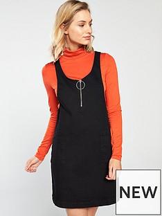 v-by-very-denim-pinafore-dress-blacknbsp