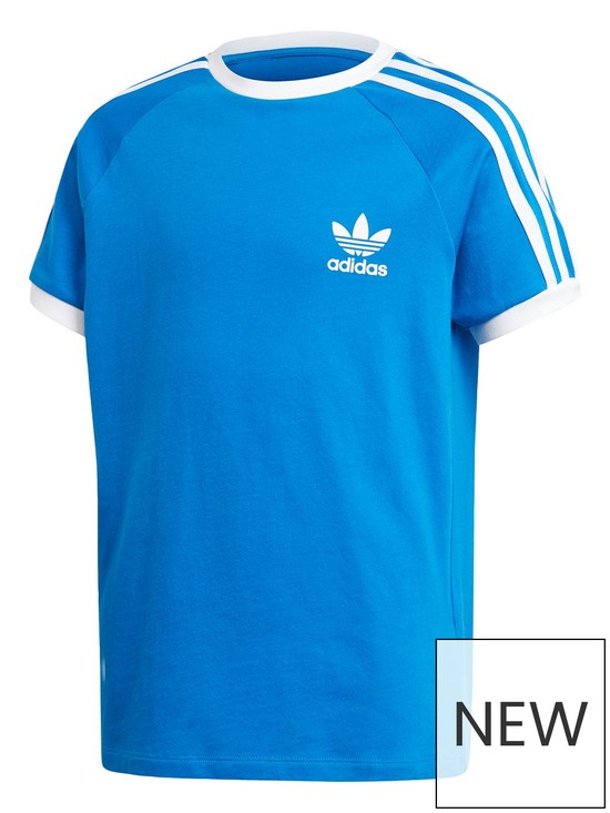 01257d960fb5 adidas Originals Youth 3 Stripes Short Sleeves T-Shirt - Blue/White ...