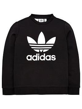 adidas-originals-youth-trefoil-crew-neck-sweat-blackwhite