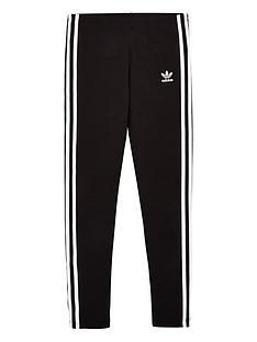 adidas-originals-youth-3-stripe-leggings-blackwhite
