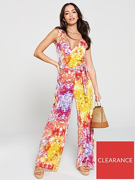 v-by-very-floral-wrap-jersey-jumpsuit-multi