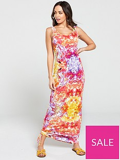 v-by-very-side-gathered-floral-jersey-maxi-dress-multi-floral