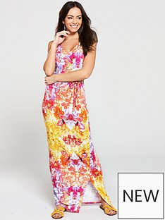 043f4687fc0 V by Very Wrap Jersey Maxi Dress - Multi Floral
