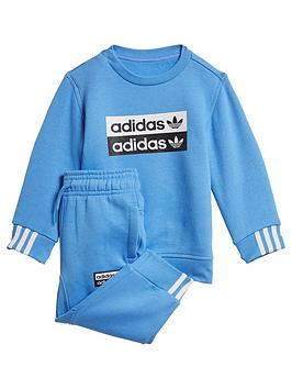 adidas-originals-infant-2-piece-ryv-crew-top-and-joggers-set-blue