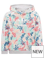 best value 64131 3682e adidas Originals Youth Floral Print Hoodie - Grey Multi