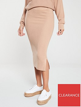 v-by-very-ribbed-co-ordnbsppencil-skirt-camel