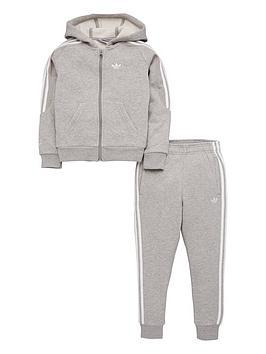 adidas-originals-little-kids-outline-hoodie-tracksuit-greywhite