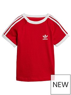 adidas-originals-infant-3-stripes-t-shirt-redwhite