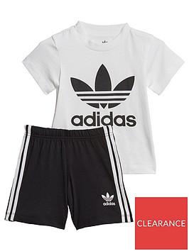 adidas-originals-infant-t-shirt-and-shorts-gift-set-whiteblack