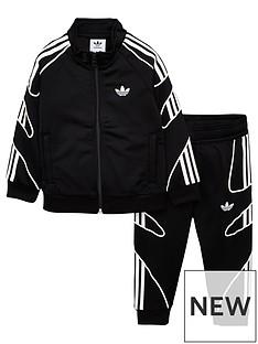 19d7a11a adidas Originals Infant Flamestrike Tracksuit - Black/White