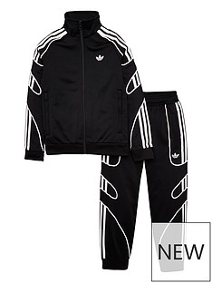 bdd740f0f adidas Originals Little Kids Flamestrike Tracksuit - Black/White