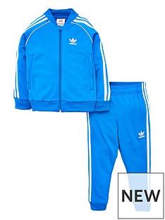 low priced c9e1c e9fc8 adidas Originals Little Kids Superstar Tracksuit - Blue White