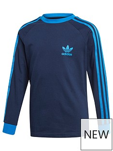 adidas-originals-youth-3-stripes-long-sleeve-top-navyblue