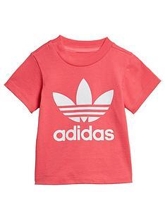 adidas-originals-infant-trefoil-t-shirt-pinkwhite
