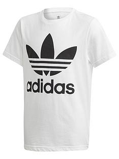 adidas-originals-youth-trefoil-t-shirt-whiteblack