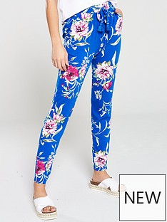 v-by-very-floral-printed-tapered-jersey-pants-blue