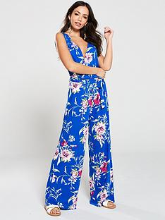 v-by-very-wrap-jersey-floral-jumpsuit-blue