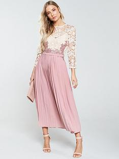 little-mistress-pleated-bottom-midi-dress-rose