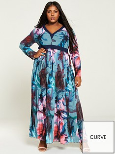little-mistress-curve-printed-chiffon-maxi-dress-multi