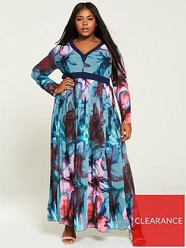 little-mistress-curve-printed-chiffon-maxi-dress-multi