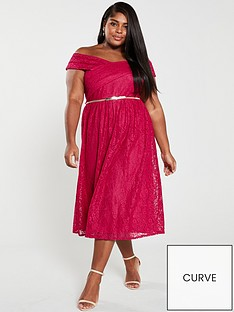 little-mistress-off-the-shoulder-lace-midi-dress-pink