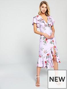 1be39f5a0d KEEPSAKE Pretty One Ruffle Detail Floral Midi Dress - Lilac