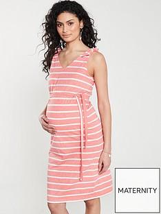 0b0aab0d383ab Mama-Licious Mamalicious Maternity Jersey Maxi Striped Dress