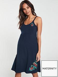 97ecdf51a1 Mama-Licious Mamalicious maternity embroidered jersey dress