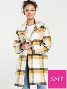 mango-check-coat-yellow