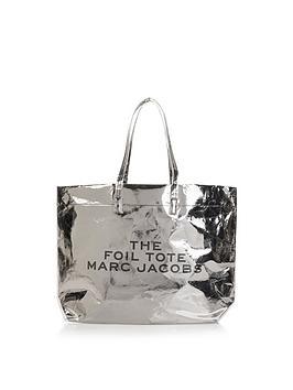 marc-jacobs-foil-logo-tote-bagnbsp--silver