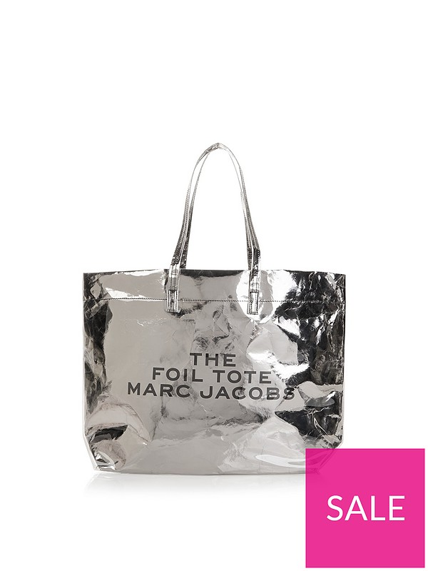 3f9455d6a5 MARC JACOBS Foil Logo Tote Bag - Silver | very.co.uk