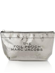 marc-jacobs-large-trapeze-foil-logo-pouch-silver
