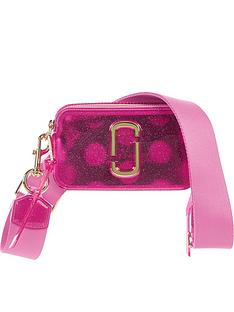 b198c2501fe8 MARC JACOBS Snapshot Jelly Glitter Cross-Body Bag - Pink