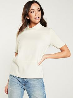 mango-high-neck-crepe-top-off-white