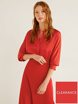mango-satin-blouse-red