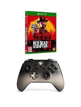 Xbox One Xbox Wireless Controller - Phantom Black Special Edition &Amp; Rdr2