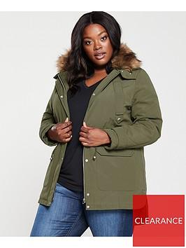 v-by-very-curve-faux-fur-parka-coat-khaki