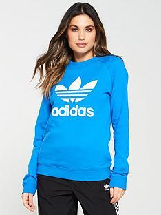 adidas-originals-trefoil-crew-sweat-blue