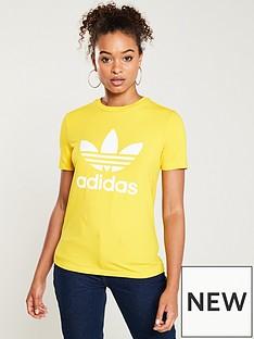 adidas-originals-trefoil-tee-yellownbsp